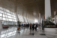 The clean hall of new t4 terminal, amoy city, china Royalty Free Stock Photo