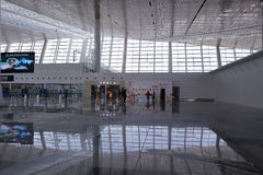 The clean hall of new t4 terminal, amoy city, china Royalty Free Stock Photos