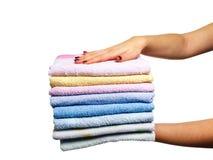 clean handdukar Royaltyfri Foto