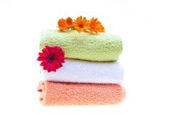 Clean handdukar Fotografering för Bildbyråer