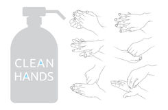 Clean hands  illustration Royalty Free Stock Image