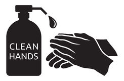 Clean hands  illustration Stock Photos