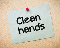 Clean hands Stock Photography