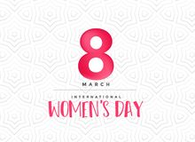 Clean happy women`s day celebration background. Illustration Royalty Free Stock Image