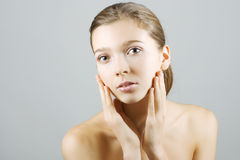 Clean and healthy skin Stock Images
