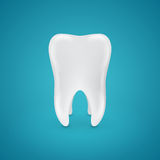 Clean healthy teeth on blue background Stock Photography