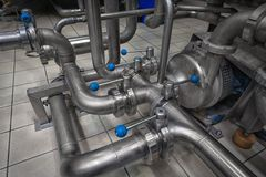 Clean high quality pipeline Royalty Free Stock Photos
