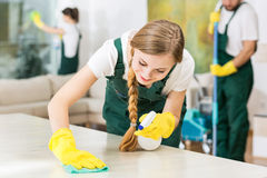 Clean home is a happy home Stock Images