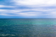 Clean Horizon Green Water Royalty Free Stock Photo