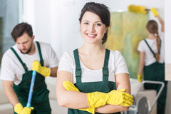 Clean house makes me smile Stock Image