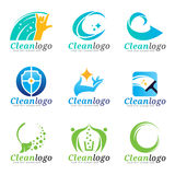 Clean and Housekeeping service logo vector set design Stock Photos
