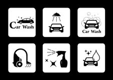 Clean icon car wash symbol set vector illustration