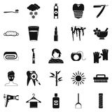 Clean icons set, simple style Royalty Free Stock Photography