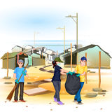 Clean India Mission. Easy to edit vector illustration of people involved in Clean India Mission Royalty Free Stock Photos