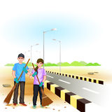 Clean India Mission Royalty Free Stock Images