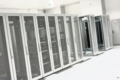 Clean industrial interior of a server room Royalty Free Stock Photography