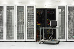 Clean industrial interior of a server room Royalty Free Stock Photo