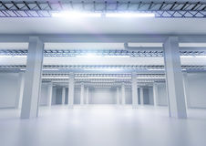 Clean Industrial Warehouse Royalty Free Stock Image