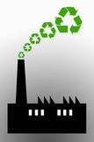 Clean industry. Polluting industries turning to recycling and green thinking Royalty Free Stock Photos