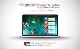 Clean Infographic Layout Template for data and information analysis Royalty Free Stock Photography