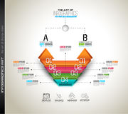 Clean Infographic Layout Template for data and information analysis Royalty Free Stock Images