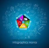 Clean Infographic Layout Template for data and information analysis. With a number of solutions available. Ideal for product presentation, item ranking, ideas Stock Images