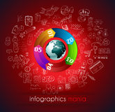 Clean Infographic Layout Template for data and information analysis Stock Photo