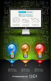 Clean Infographic Layout Template for data and information analysis Royalty Free Stock Photo