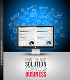 Clean Infographic Layout Template for data and information analysis Stock Photos