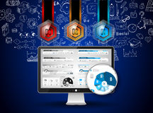 Clean Infographic Layout Template for data and information analysis Royalty Free Stock Photos