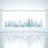 Clean interior with large window Royalty Free Stock Photo
