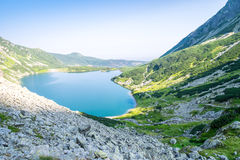 Clean lake in the mountains Royalty Free Stock Images