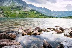 Clean lake in the mountains Stock Photo