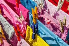 Clean Laundry Clothespins Royalty Free Stock Photo