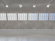 Clean light warehouse background. 3D. Rendering Royalty Free Stock Photography