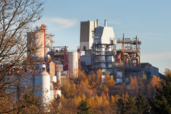 Clean lime factory plant forest Wulfrath Germany Stock Photography