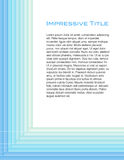 Clean lines blue page layout Stock Images