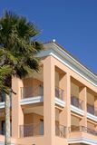 Clean lines of luxury hotel on Spanish beach Royalty Free Stock Image