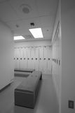Clean locker room. Clean dressing room with out people royalty free stock photo