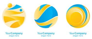 Clean logo designs Royalty Free Stock Photos