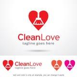Clean Love Logo Template Design Vector Royalty Free Stock Photos