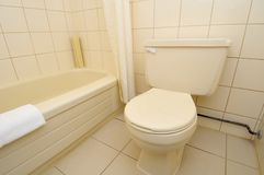 Clean and luxurious toilet Stock Photo