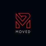 Clean M logo icon company sign vector design. M logo icon company sign vector design Stock Photography