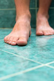 Clean male toes Stock Photo