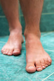 Clean male toes. Without any dermatological issues Stock Image