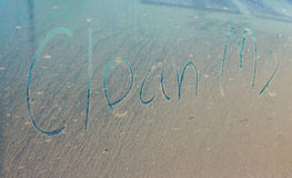 Clean me written on car Royalty Free Stock Images