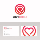 Clean medical health sign hearth logo vector icon Royalty Free Stock Images