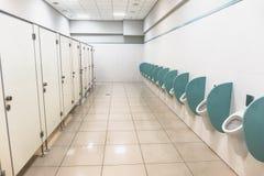 Clean men public toilet interior. Clean men public toilet room interior, perspective Stock Photography