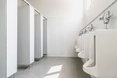 Clean men`s toilet in a public building Royalty Free Stock Images