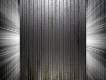 Clean metal texture 3d presentation Stock Image